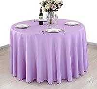 IYHUO テーブルクロス ホテル レストラン ティーテーブ クロス 食卓カバー ポリエステル 円形 ファッション 洗いがやすい 柔軟性 耐久性