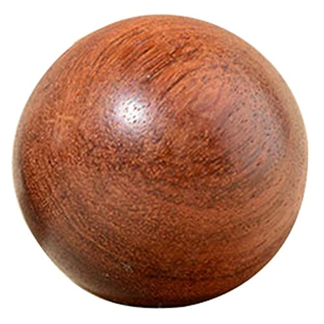 窒素黒板契約するACAMPTAR 5Cm 木製圧力Baodingボール、健康運動用ハンドボール、指のマッサージ、中国健康瞑想リラクゼーション療法