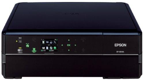 EPSON Colorio インクジェット複合機 EP-804A 有線・無線LAN標準対応 スマートフォンプリント対応 先読みガイド&カンタンLEDナビ搭載 6色染料インク ブラックモデル