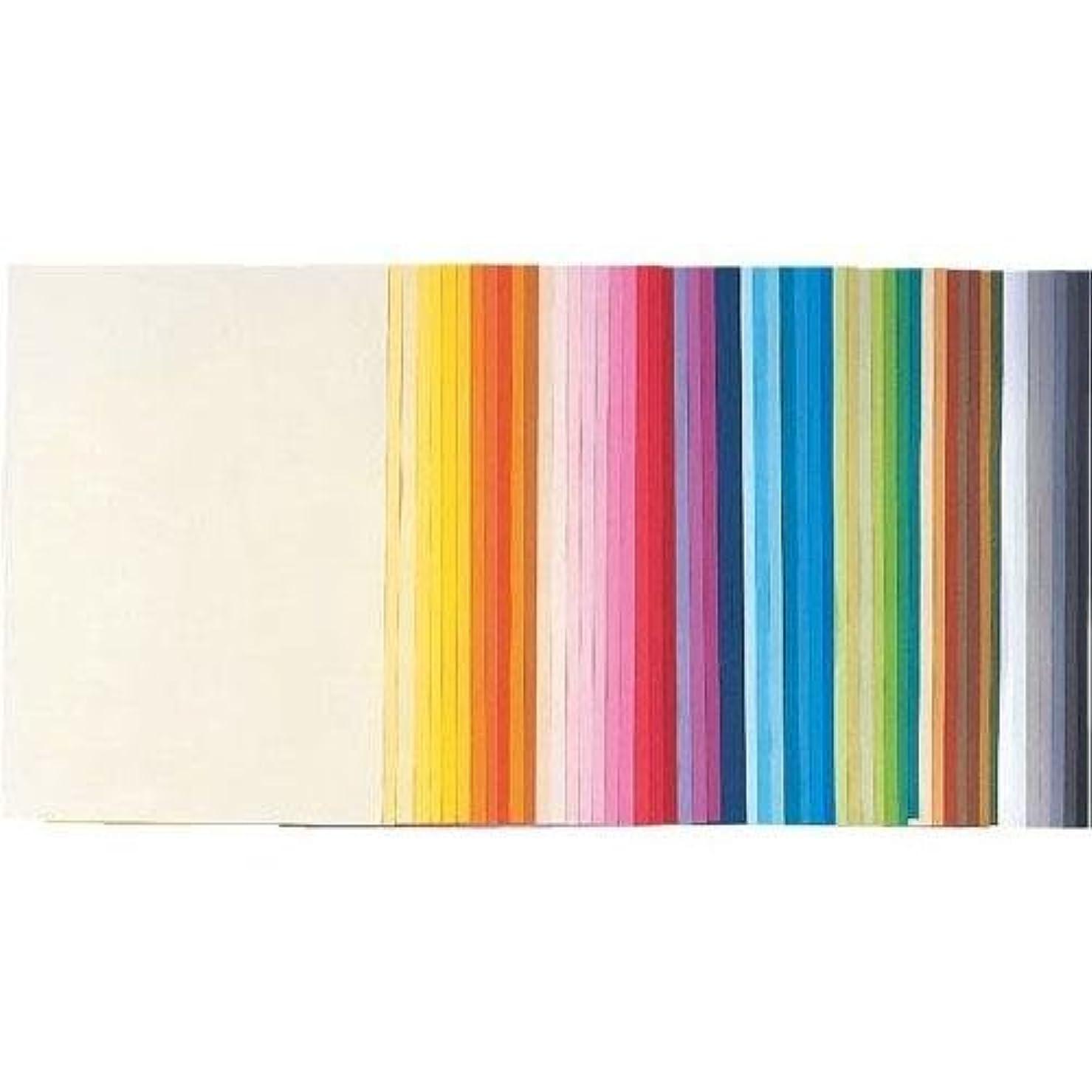 に渡って牛誇張する再生色画用紙四切10枚うすちゃ 139-042