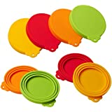Silicone Pet Can Covers lids-4 Pack for Pet Dog Cat Food Can Top One Size Fits All Standard Size Dog and Cat Can Tops Universal Silicone Can Lid Cover