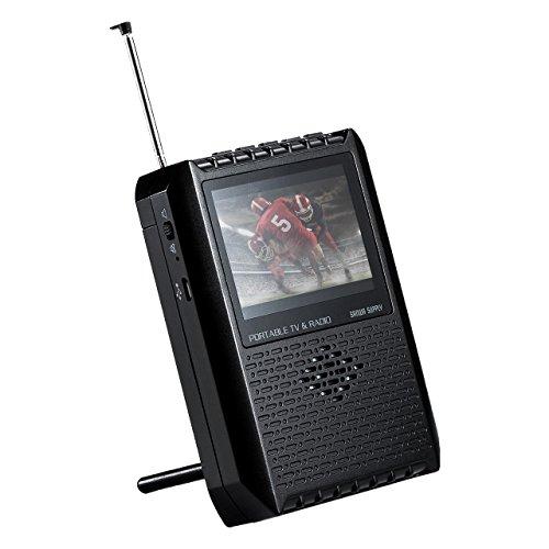 サンワダイレクト ポータブルテレビ ワンセグ FM/AMラジオ搭載 アンテナ内蔵 電池/USB給電対応 400-1SG005