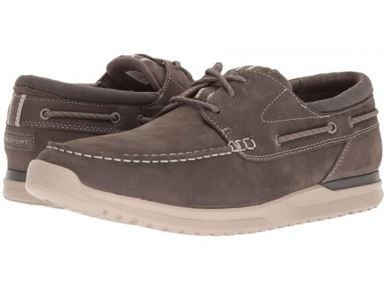 ブランド名正当化する保安Rockport(ロックポート) メンズ 男性用 シューズ 靴 ボートシューズ Langdon 3 Eye Ox - Breen Leather [並行輸入品]