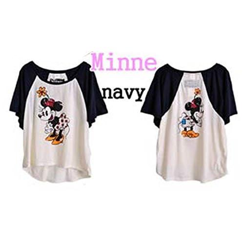 Disney ミニーちゃんTシャツ  < ミニーマウス ミッキーマウス ミニーーTシャツ ミニー MINNIE Tシャツ minnie  T ミッキー mickey MICKEY MOUSE ディズニー ディズニーランド >