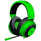 Razer Kraken Pro V2: Lightweight Aluminum Headband - Retractable Mic - In-Line Remote - Gaming Headset Works with PC, PS4, Xbox One, Switch, Mobile Devices - Green [並行輸入品]
