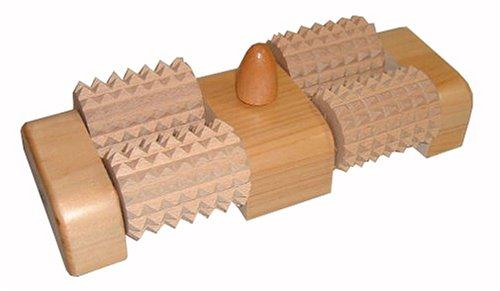 木曽工芸 ウッドローラーマッサージャー 足うら思い(W) ツボ押し付き WDM-004