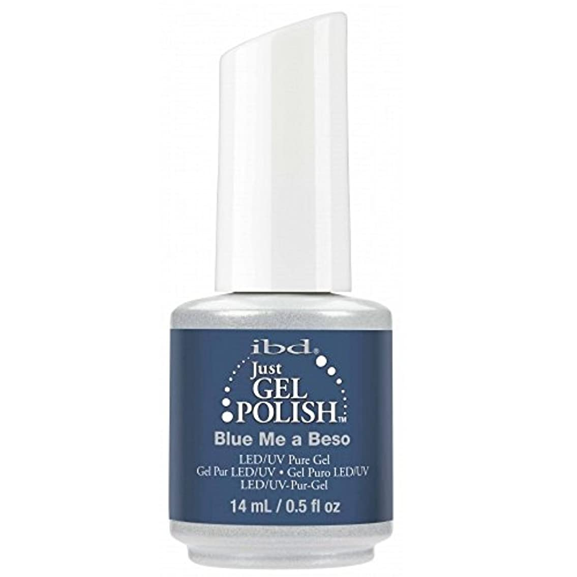 にぎやか良心ibd Just Gel Nail Polish - Blue Me A Beso - 14ml / 0.5oz