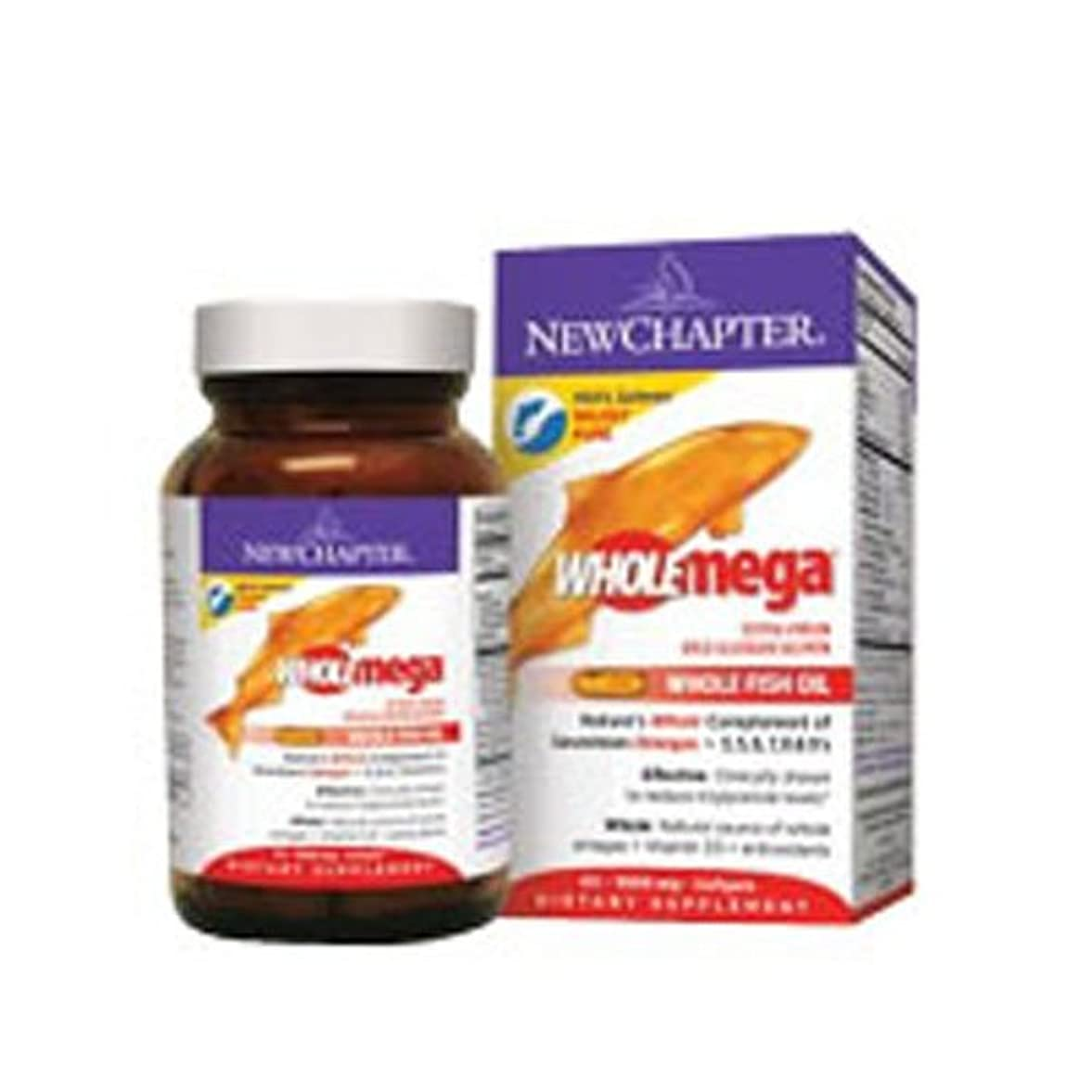 スプリット番目湿原New Chapter Wholemega extra pure fish oil - 1000 mg, 120 softgels (Multi-Pack) by Wholemega Fish Oil,