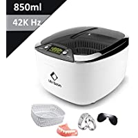 Ultrasonic Cleaner 850ml 42K Hz Life Basis Cleaner Machine with Digital LED Display Timer, with CD Stand, Clean Eyeglass Jewelry Watch Watches Earrings Smoke Pen Necklace Rings