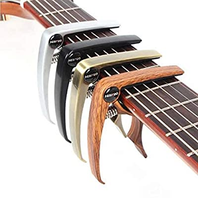 Reqo Guitar Capo for Ukulele Banjo Acoustic Electric Guitar Folk Guitars and Mandolin Single-Handed Alloy Trigger