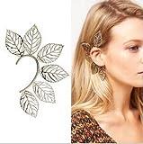 キラキラ美ファッションゴシックパンクスタイルメタルHollowed Leaves耳フッククリップイヤリングEar Cuffワープnoピアスイヤリングの女性ジュエリーearingsyj2066