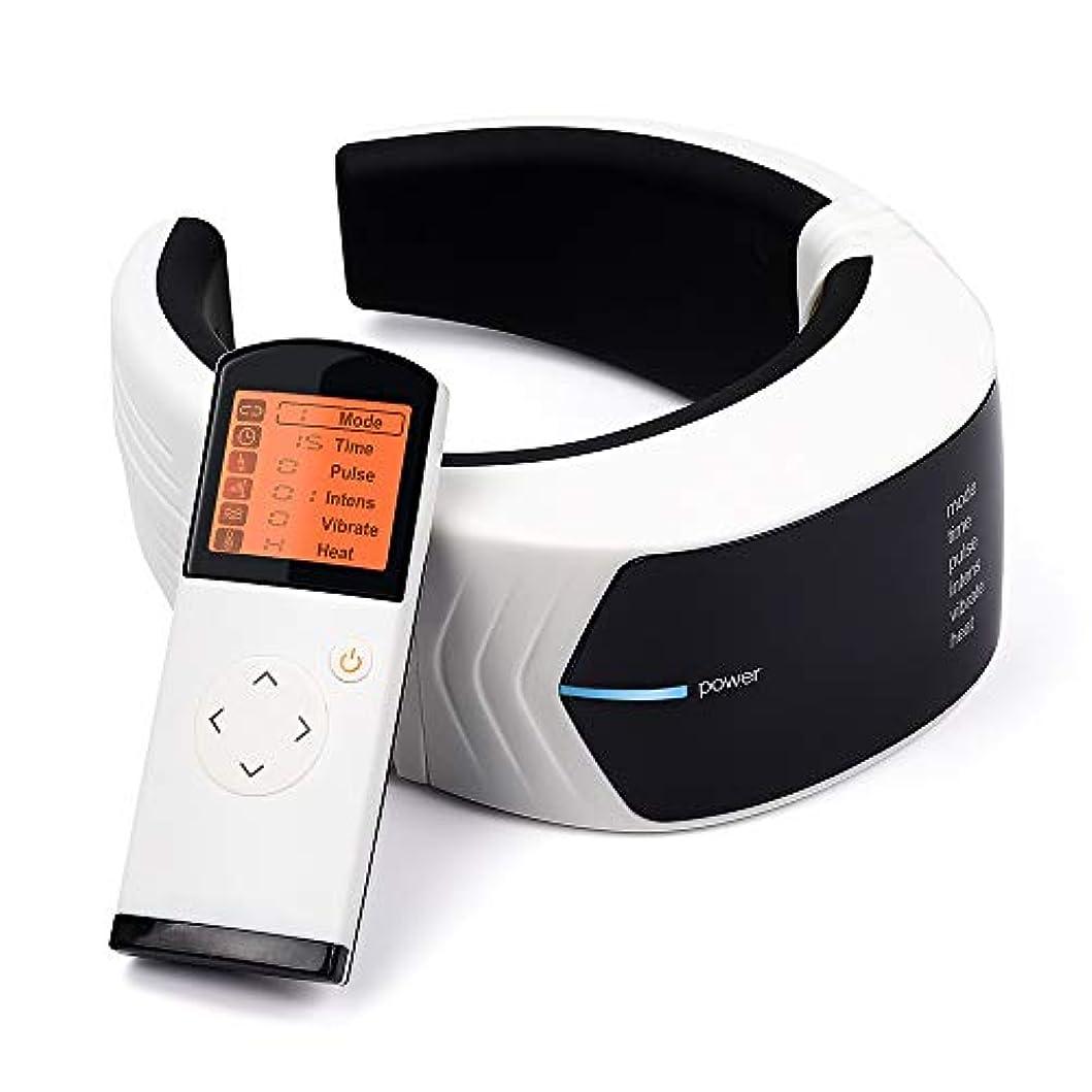 数値通信するアシスタント電気パルスネックマッサージャー頸椎椎骨インパルスマッサージ2パッド付き理学療法鍼磁気鎮痛療法用