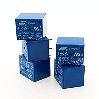 YUXINXIN LDTR-YJ055 5PcsMini 5V DC電源リレーSRD-5VDC-SL-C 5ピンPCBタイプ