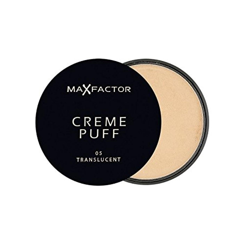 きしむ恐ろしいバタフライマックスファクタークリームパフパウダーコンパクト半透明5 x2 - Max Factor Creme Puff Powder Compact Translucent 5 (Pack of 2) [並行輸入品]