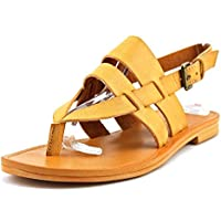 White Mountain Womens Split Toe Casual Leather Flat Sandals