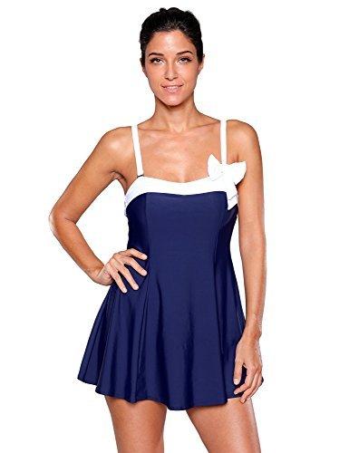 LookbookStoreレディースBow Swimdress Bandeauワンピーススカート水着水着 US サイズ: 4L カラー: ブルー