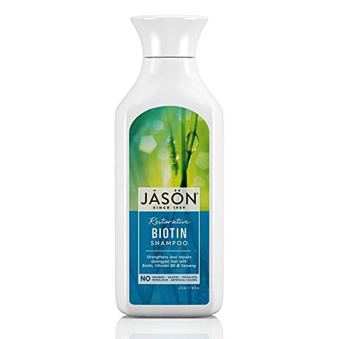 振り返る会話ドリンクJason Natural Products Natural Biotin Shampoo 473 ml (並行輸入品)
