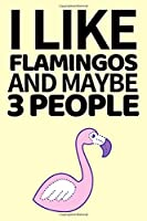 I Like Flamingos And Maybe 3 People: Funny Flamingo Notebook/Journal Unique Gift Idea For Flamingo Lovers Birthday Or Christmas