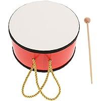 P Prettyia ウッド製 ハンドドラム マレット付き 贈り物 知育玩具 音楽玩具 楽器 子供用 おもちゃ