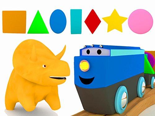 モンスタートラック、トレイン、恐竜のダイノと一緒に図形を学ぼう