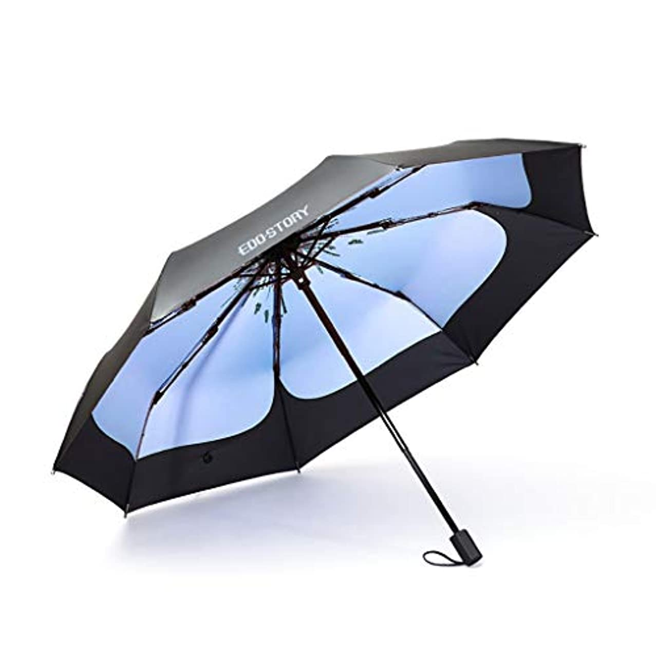 ライフル忌み嫌う害日傘日焼け止めUV折りたたみ傘デュアルユース超軽量小型ミニシンプルな雰囲気ファッション日焼け止め (色 : C)