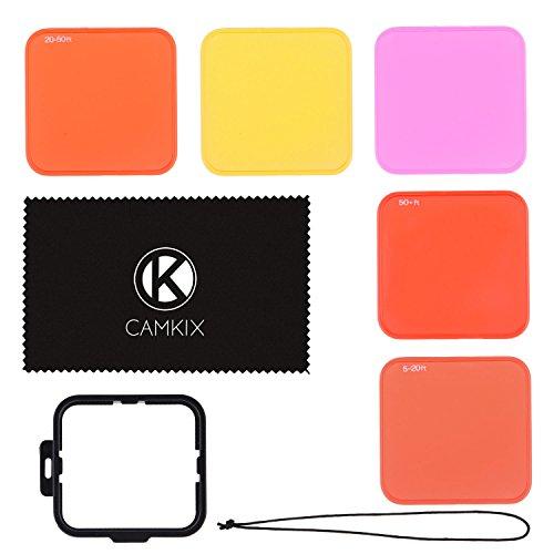 CamKix ドライビングレンズフィルターキットGoPro HERO 4 Black, Silver HERO+ HERO+ LCD, HERO and 3+ 、4用 ― 様々な水中ビデオと撮影状態のために色を向上させる ― ビビッドカラー、コントラスト力アップ、ナイトビジョン用フィルターを5つ含む (ハウジングのみ規格に収まります)