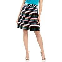 Review Women's Rainbow Stripe Skirt Navy/Multi
