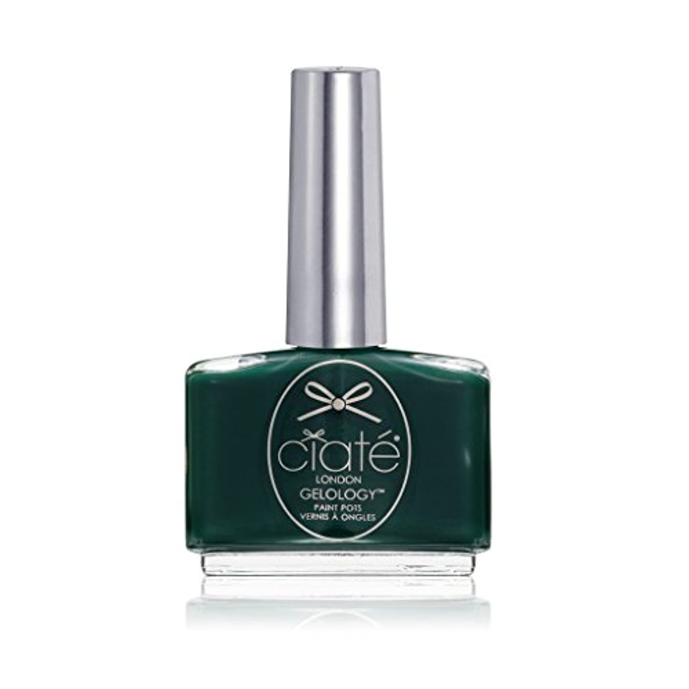 水平脆いユーモラス[ciate] [シアテロンドン ] ジェルロジー レーシングクイーン(カラー:モスグリーン)-GELOLOGY-RACING QUEEN 色:モスグリーン ネイルカラー系統:グリーン 13.5mL