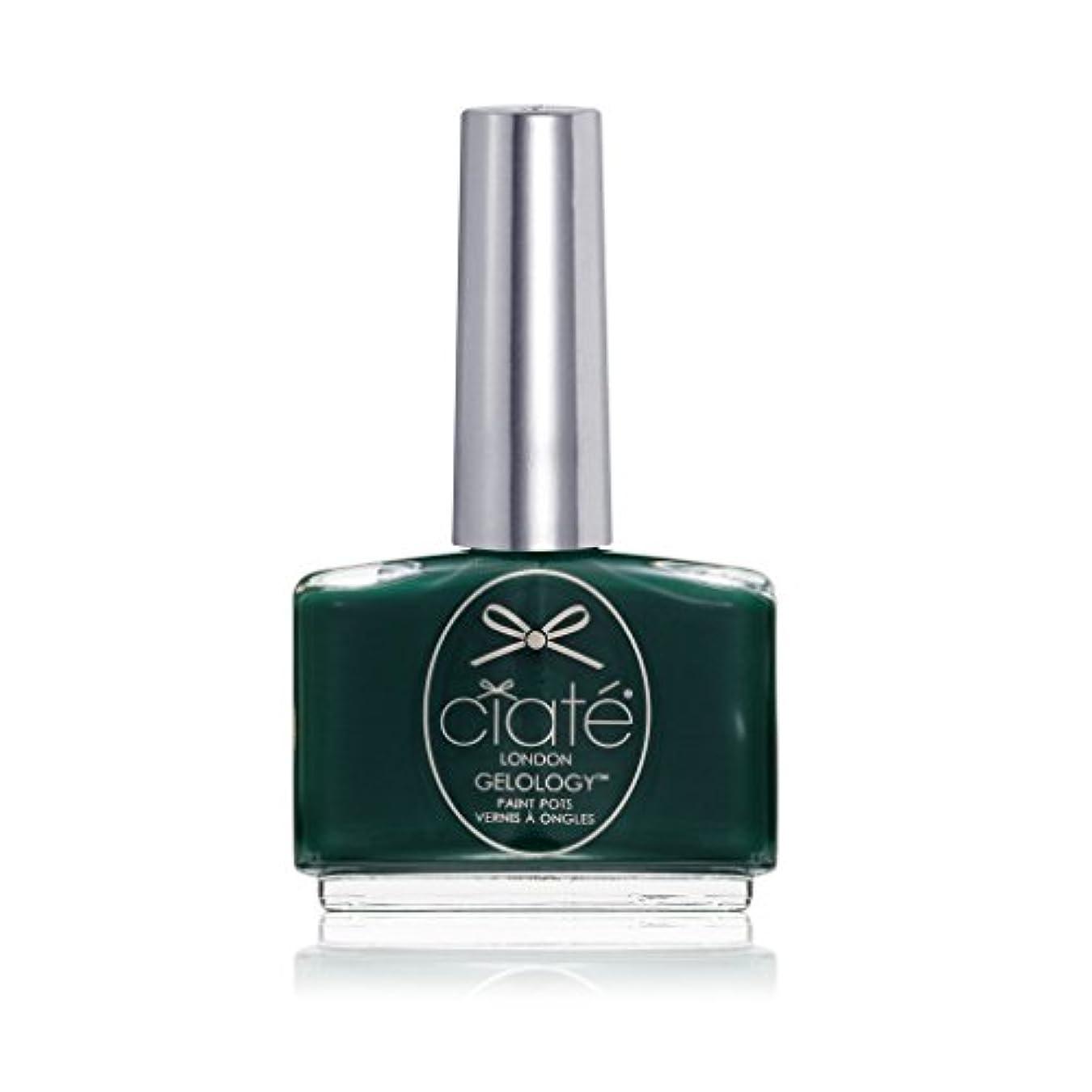公然とお手伝いさん不条理[ciate] [シアテロンドン ] ジェルロジー レーシングクイーン(カラー:モスグリーン)-GELOLOGY-RACING QUEEN 色:モスグリーン ネイルカラー系統:グリーン 13.5mL