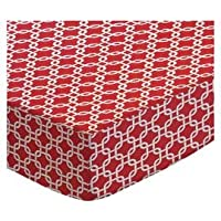 SheetWorld Fitted Sheet (Fits BabyBjorn Travel Crib Light) - Red Links - Made In USA by sheetworld