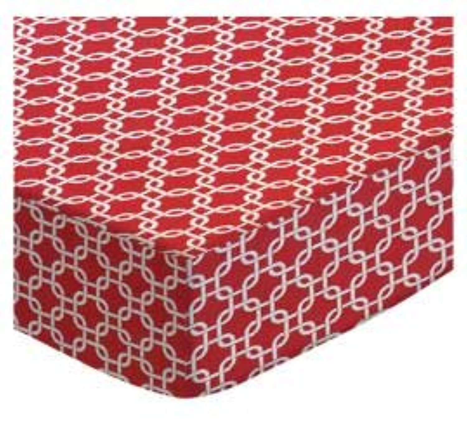 SheetWorld Fitted Cradle Sheet - Red Links - Made In USA by sheetworld
