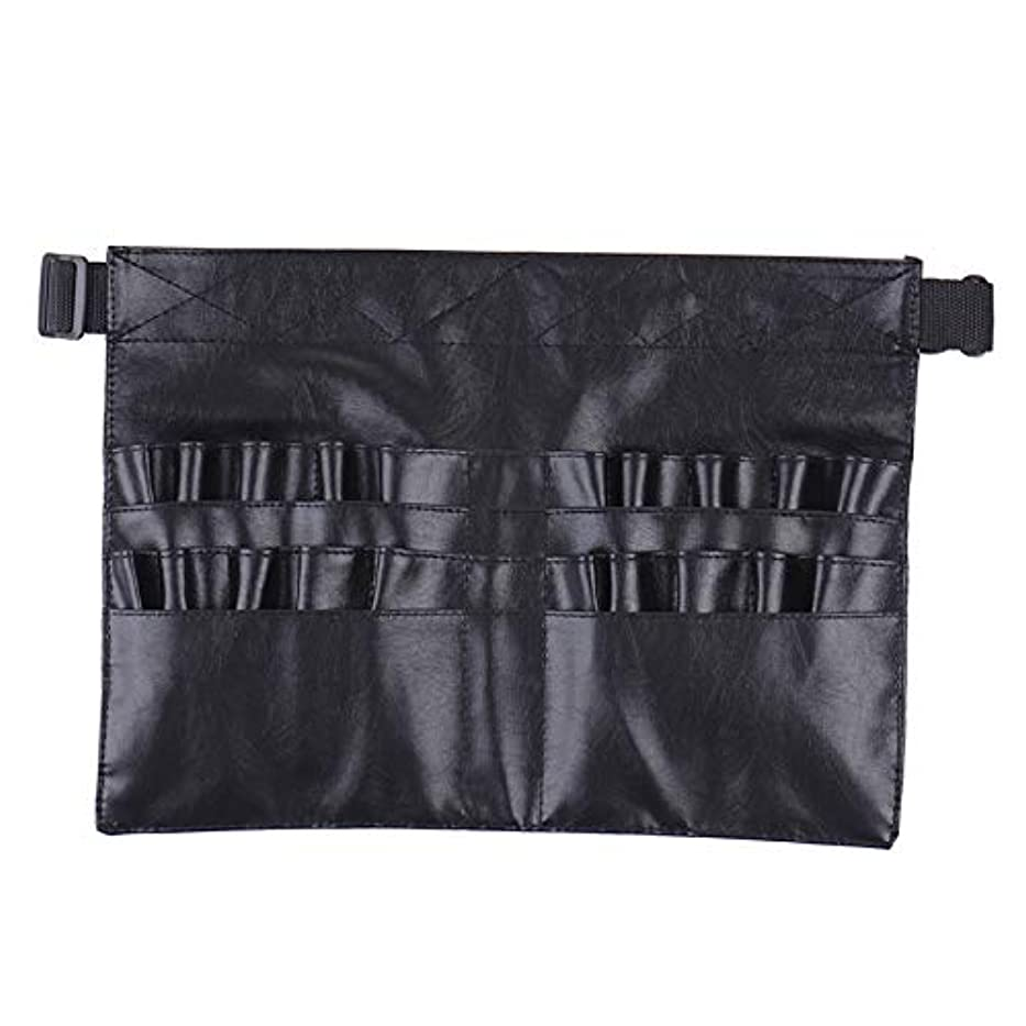 巨人時代シルクBlack Two Arrays Makeup Brush Holder Professional PVC Apron Bag Artist Belt Strap Protable Make Up Bag Cosmetic...