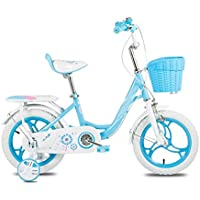YANFEI 子ども用自転車 ピンクと青の子供の自転車2~6歳の女の子の自転車12インチの赤ちゃんトロリー自転車 子供用ギフト