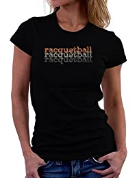 Racquetball repeat retro 女性の Tシャツ