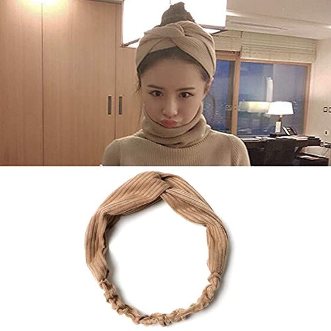 迷惑服を片付けるふくろうフラワーヘアピンFlowerHairpin YHM 5ピース髪飾り布結び目ヘアバンドクロスヘッドバンドランダム配信 (色 : Khaki)