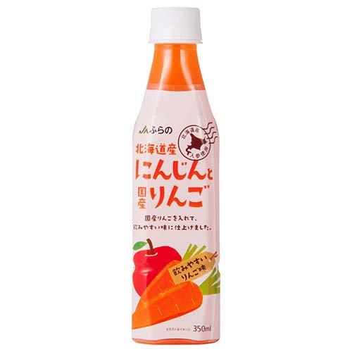 JAふらの 北海道産にんじんと国産りんご 350mlペットボトル×24本入×(2ケース)