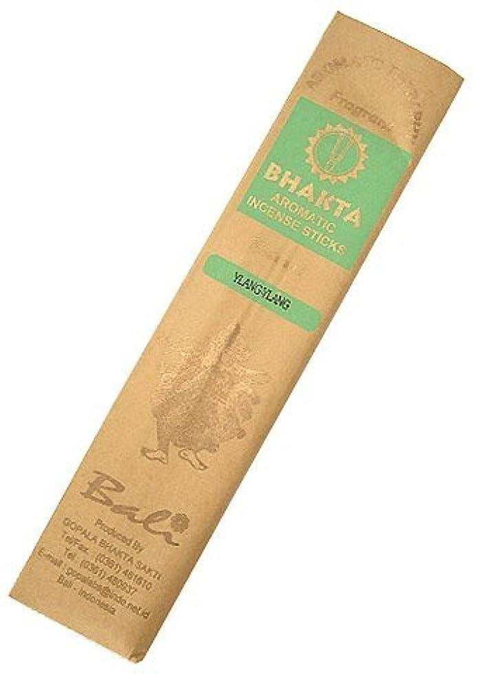 リングぜいたく驚かすお香 BHAKTA ナチュラル スティック 香(イランイラン)ロングタイプ インセンス[アロマセラピー 癒し リラックス 雰囲気作り]インドネシア?バリ島のお香