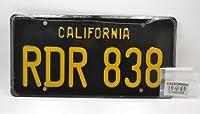 """Bullitt"" 1968 DODGE CHARGER R/T ""NUMBER PLATE""  「ブリット」 1968 ダッジ・チャージャー  ナンバープレート 「CALIFORNIARDR 838」カリフォルニア"