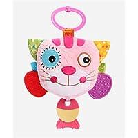 HuaQingPiJu-JP 子供幼児ラブリーキャットローリングハンドつかむミラーおもちゃカラフルなセーフティミラーギフト