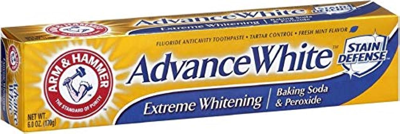 わずらわしい学士服を着る海外直送品Arm & Hammer Arm & Hammer Advance White Fluoride Toothpaste Baking Soda And Peroxide, Baking Soda And Peroxide 6 oz