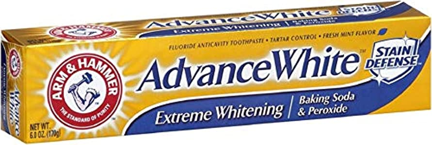 賞賛寺院ブラスト海外直送品Arm & Hammer Arm & Hammer Advance White Fluoride Toothpaste Baking Soda And Peroxide, Baking Soda And Peroxide...