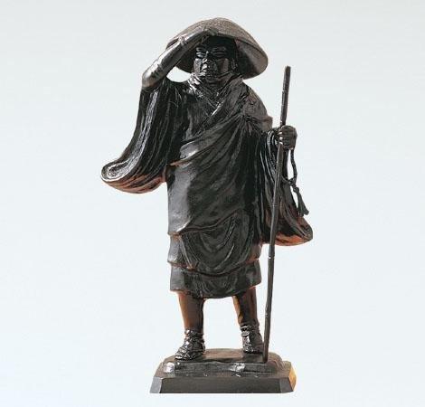般若純一郎『親鸞聖人』ブロンズ像 銅像 仏像 彫像 お坊さん 僧侶 浄土真宗 歎異抄 フィギュア【オブジェ 置物】【R142】