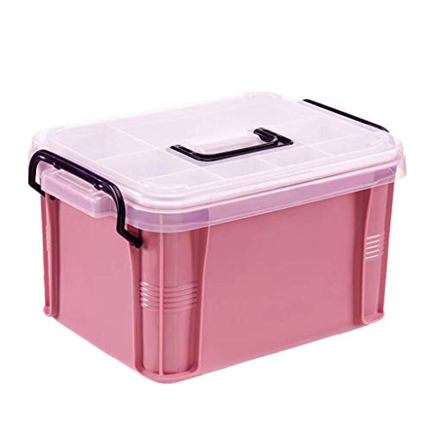 発言するビジュアルウェーハ薬箱、プラスチック収納ピルケース、家庭用応急処置キット、多機能薬箱、収納ボックスオーガナイザー