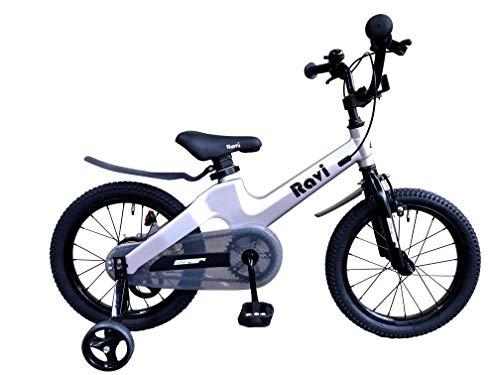 Eizer(アイゼル) 【子供用自転車】 おしゃれでカッコいいドイツデザイン超軽量マグネシウム合金7㎏台~ キッズ・ジュニア用自転車Raviラビ14インチ カラーバリエーション Ravi14 シルバー 14インチ