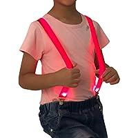 Child Kids Suspender Adjustable Y Shape Boys and Girls LED Light Up Suspenders