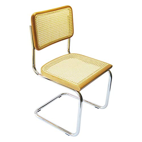 Marcel Breuer Cesca CaneクロムSide椅子in Honey Oak