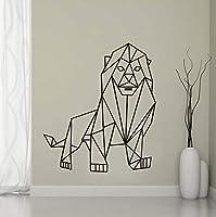 Mingld 幾何学的なライオンウォールステッカーリビングルームの背景ジオメトリシリーズデカールウォールアートDiyのための家の装飾ステッカー保育園の装飾43×49センチ
