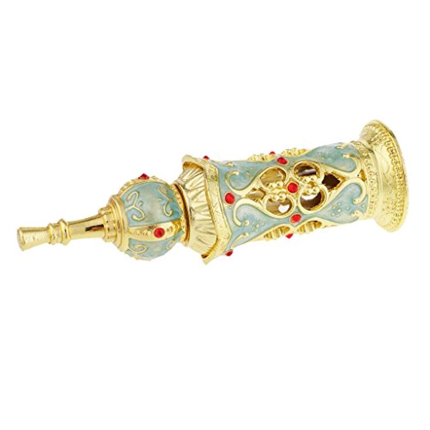 小石デッドロック指導するDolity ヴィンテージ 華やかなデザイン ガラス 香水瓶 空ボトル 詰め替え可能な 結婚式 インテリア 10ミリリットル 全2色 - #2