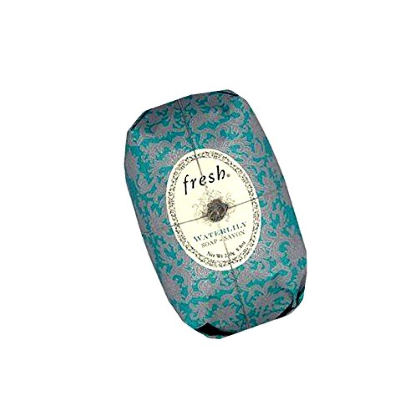 汚染する形状休憩Fresh フレッシュ Waterlily Soap 石鹸, 250g/8.8oz. [海外直送品] [並行輸入品]