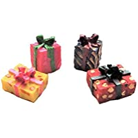 Melody Jane Dolls House Gift Wrapped Christmas Birthday Present Boxes Miniature
